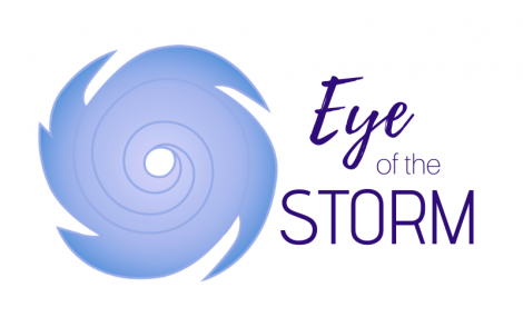eye of the storm with a storm icon